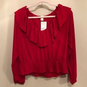 Cropped Red Top